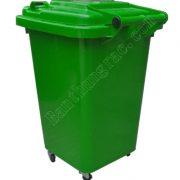 Thùng rác HDPE 60L có bánh xe