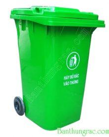 Thùng rác công cộng 240L - thùng rác công nghiệp 240l, bán thùng rác nhựa 240L