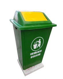 Thùng rác nhựa COmposite 60L có đế - Thùng rác cố định có đế 60 lít