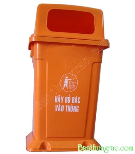 Thùng rác nhựa MGB 95L màu cam