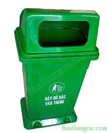 Thùng rác nhựa nắp hở có đế MGB 95 dung tích 95 lít