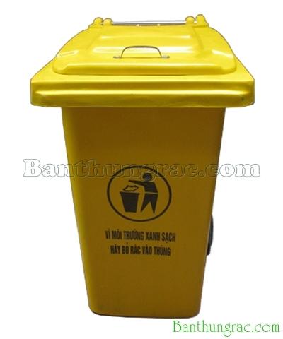 Thùng rác nhựa composite 120L vàng