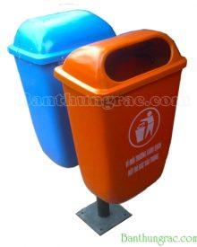 Thùng rác treo đôi cố định 55L nhựa composite