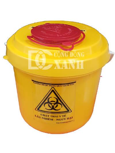 hộp đựng bơm kim tiêm bông băng y tế 5L